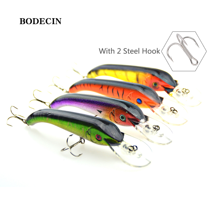 4PCS Fishing Lure Minnow Wobblers Hard Bait With Hook Artificial Lures For Pike  Sinking Peche Tackle Wobbler Sea 13CM Fish Set crankbait fishing lure 112mm 14g hard bait wobbler crank bait minnow lure 1 2 3 5m artifical peche with treble sharp hook