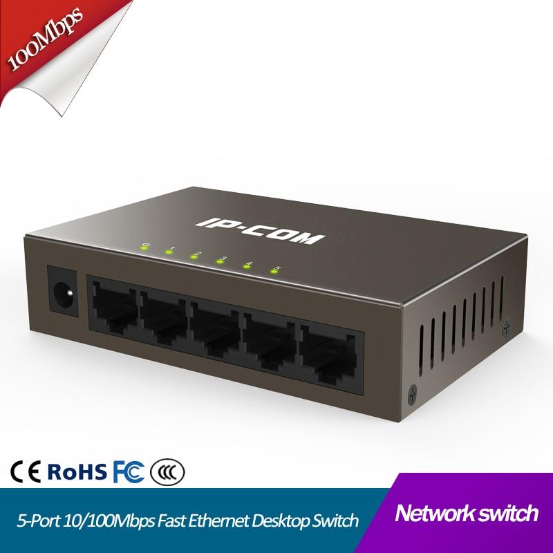 5 Порты и разъёмы Fast Ethernet неуправляемый сетевой коммутатор ethernet rj45 lan концентратора интернет сплиттер ethernet концентратор Plug and Play-in Сетевые коммутаторы from Компьютер и офис