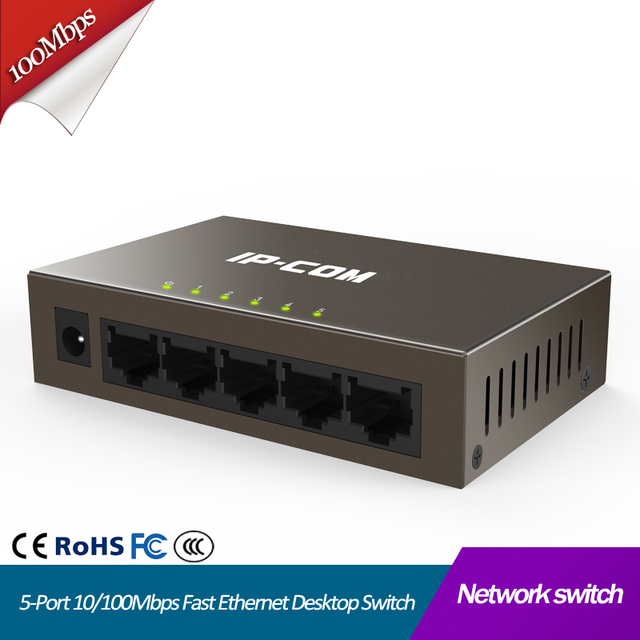 5 портовый Неуправляемый коммутатор для быстрой локальной сети, коммутатор Ethernet, коммутатор rj45 lan, разветвитель Интернета, хаб ethernet, подключи и работай