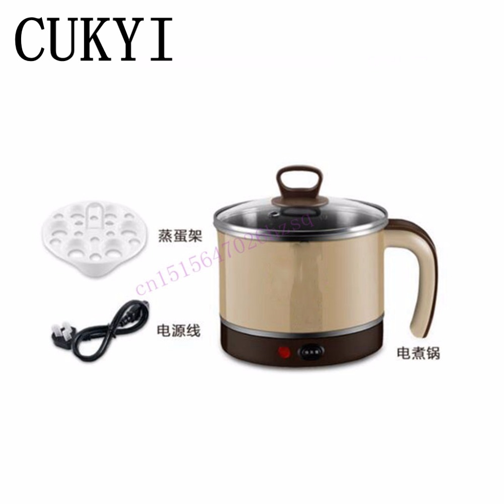 CUKYI household electric nonstick skillet    Student dormitory mini multifunction  pot cooker  electric cup 1.5LElectric Hot pot cukyi 110v 450w multifunctional electric boiler student dormitory pot noodle electric kettle hot pot 1 2l