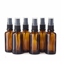 6pcs 60ml 2oz Amber Glass Bottle With 3 Glass Eye Droppers 3 Fine Mist Sprayers G