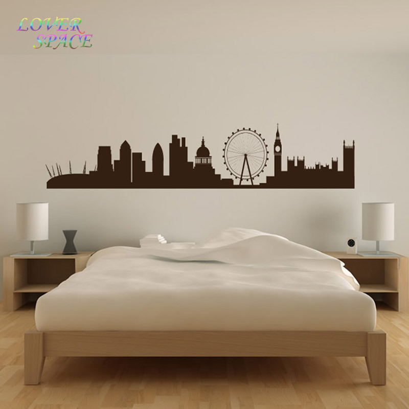 london landmarks wall sticker skyline wall art living room background wall stickers home decor drawing room wall decals ls58231in wall stickers from home