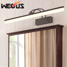 American bathroom light fixture black/golden copper vanity lamp led mirror cabinet lighting цены онлайн