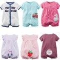 2016 nueva moda ropa de bebé Baby girl algodón recién nacido del mameluco del bebé bebes mono del verano infantil de la muchacha ropa
