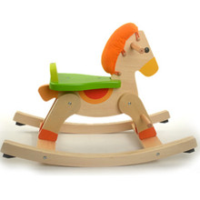 Italy big wooden rocking horse 1-2-3 year old baby toy wooden toys