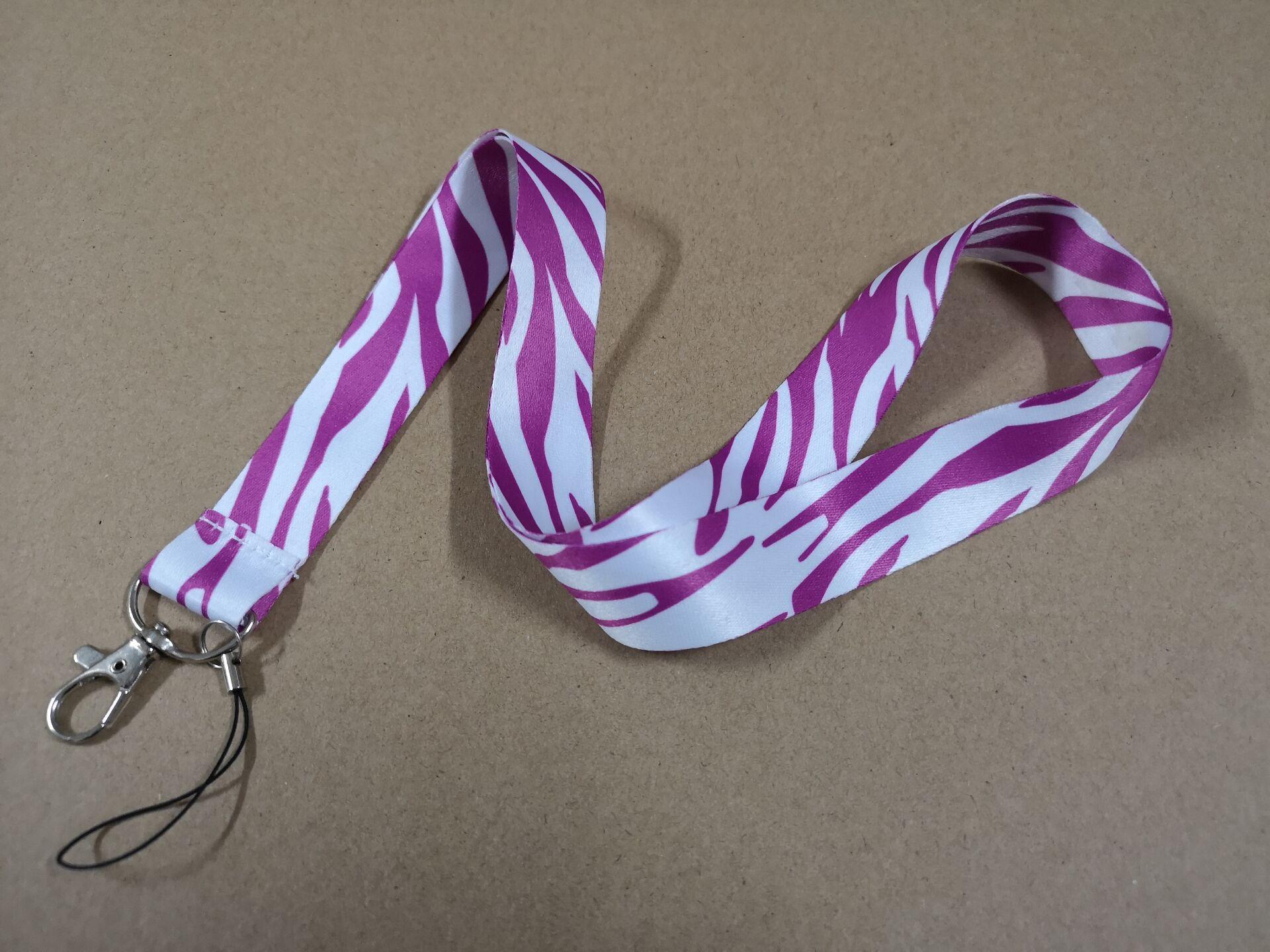 Free shipping 300pcs lots Pink stripe grain mobile Phone card lanyard neck straps gifts