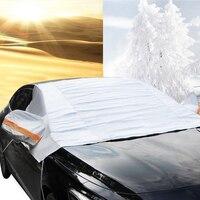 רכב שמשה קדמית שלג כיסוי עבור חורף שלג קרח כפור או אבק  סופר עבה עם קטיפה Windproof עיצוב עמיד למים פוליאסטר