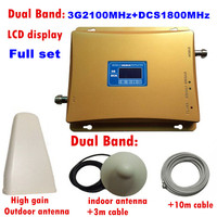 Gain 70dB GSM REPEATER 2100 1800 Dual Band Cellular Amplifier Gsm 3G 4G WCDMA 2100 LTE