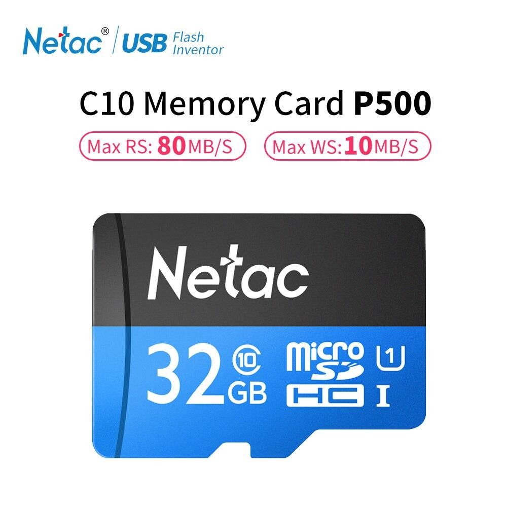 Netac 32 gb Telefon Speicher Karte Class 10 16 gb TF Karte Flash Micro SD Karte 128 gb Daten Lagerung 64 gb High Speed 80 mb/s Für Smartphone