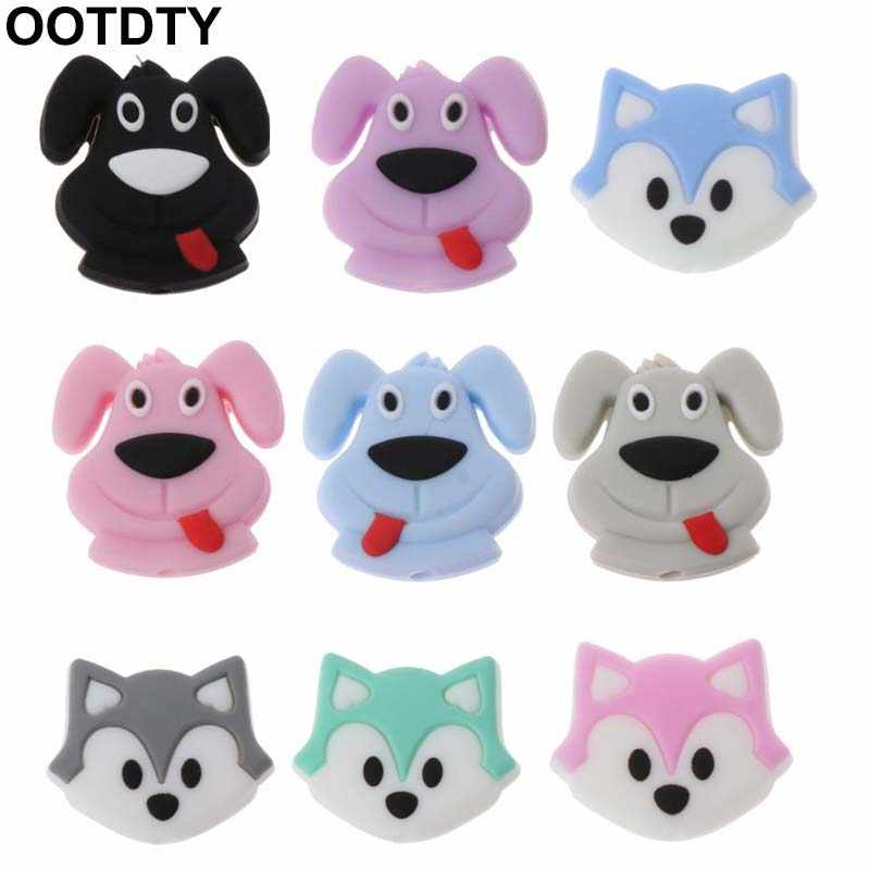 7a59cfda1df69 Detail Feedback Questions about Dog Fox Baby Teething Beads Cartoon  Silicone Beads For Necklaces BPA Free Teether Toy Accessories Nursing DIY  on ...