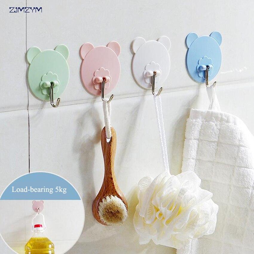 creative Cartoon Waterproof adhesive hooks for walls Seamless strong adhesive hooks Strong Wall Hook Hanger Kitchen Bathroom