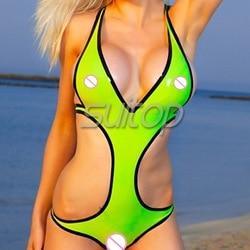 sexy latex swimsuit latex briefs &bra