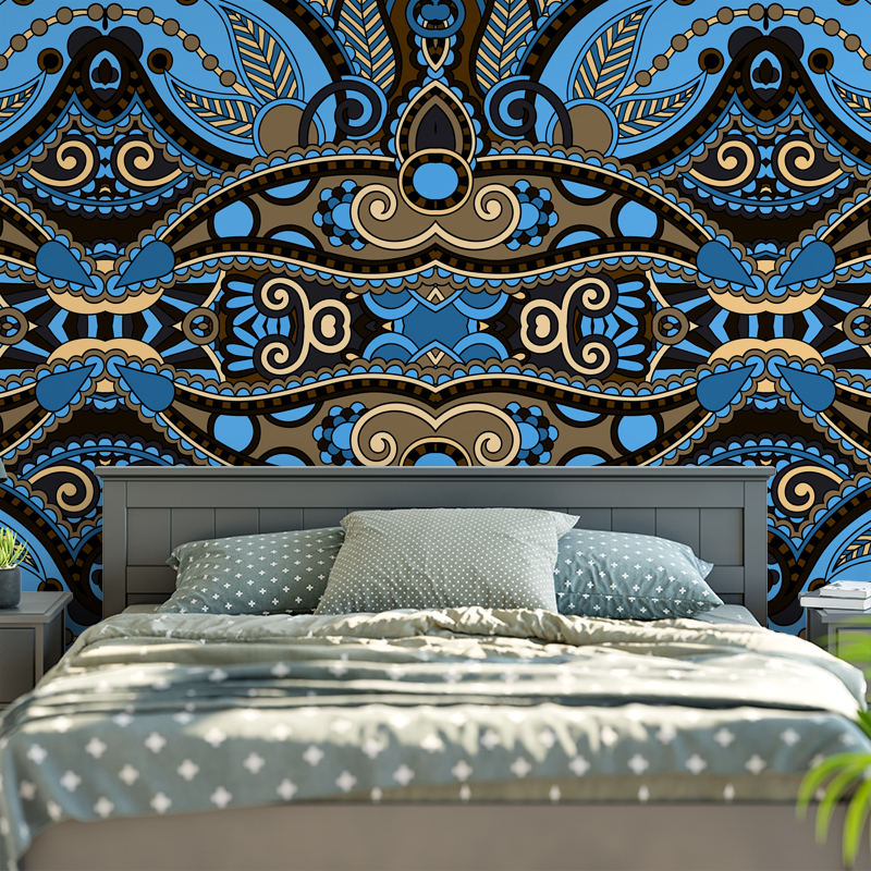 Euro Home Decor Seamless Geometric Bohemia Wall Hanging Floral Tapestry  Boho Wall Carpet Living Room Blanket Beach Throw 150x200 In Tapestry From  Home ...