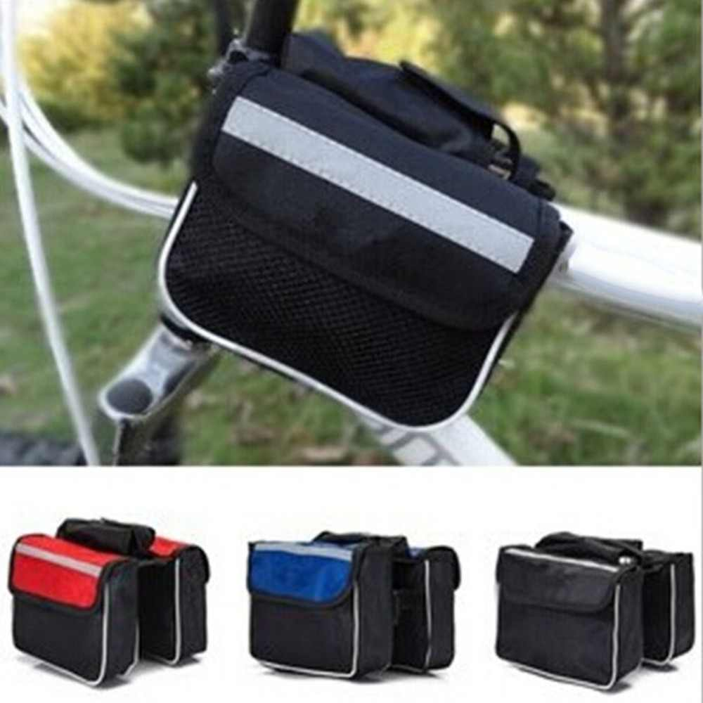 High Quality Mountain Bike Upper Tube Bag Bicycle Small Double Bag 3 Color Front Bag Beam Bag Cycling Equipment