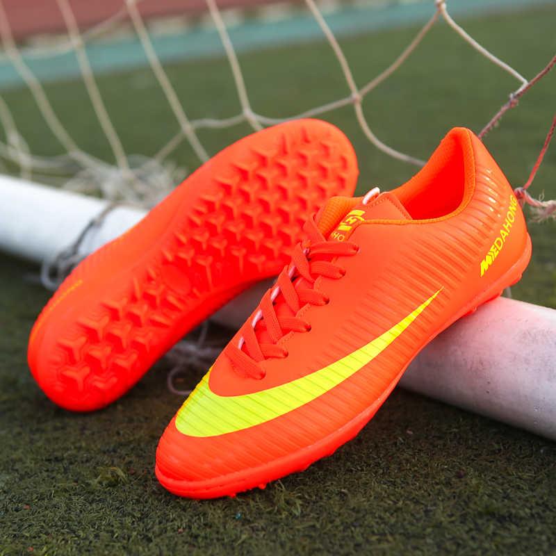 la meilleure attitude 50b11 184c8 Professional Men Kids Turf Indoor Soccer Shoes Cleats Original Superfly  Futsal Football Boots Sneakers men Chaussure De Foot
