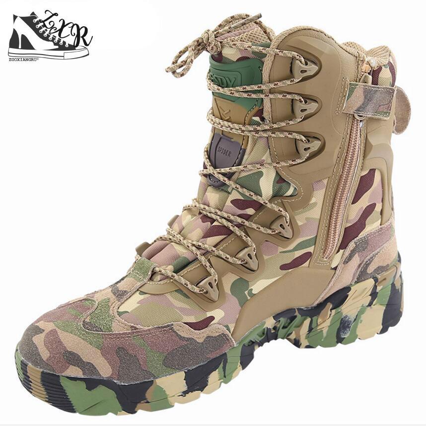 여름 남자의 사막 위장 군사 전술 부츠 남자 야외 - 남성용 신발
