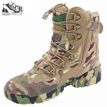Sommarmanar Desert Camouflage Militära Tactical Boots Herrar Utomhus Combat Army Boots Botas Militärer Sapatos Masculino