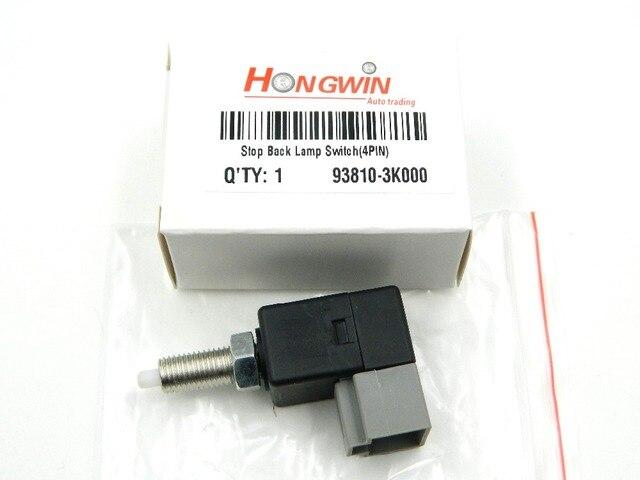 93810-3K000 interruptor de la lámpara de freno/interruptor de la lámpara trasera de parada (4 pines) para 1989-2014 Hyundai acento/Elantra Kia Rio 93810 3K000/938103K000