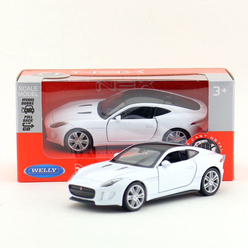 Welly Cast Metal Model 1 36 Scale Jaguar F Type Coupe Toy Car Pull Back Educational Collection Children S Gift In Casts Vehicles From