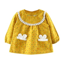 Children's Dress Spring Girls Long Sleeve Princess Dress for 0-3Y Baby Girl Clothes Dress цена
