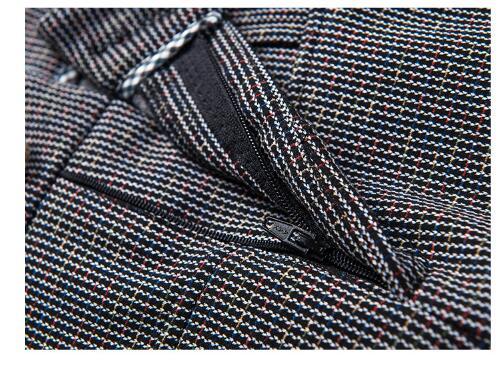 Vêtements Hiver Plaid Femmes Laine Automne Ds50217 Longues 2019 Carreaux 33 Grande Pants Gray Jambe Taille Mode De Haute Femelle Large À Pantalon Épais Tpwzd1