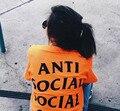 ANTI SOCIAL CLUB Paranoid T Shirt Men Women 100%Cotton Short Sleeve T shirt KANYE ANTI SOCIAL CLUB T-Shirts Size S-XL
