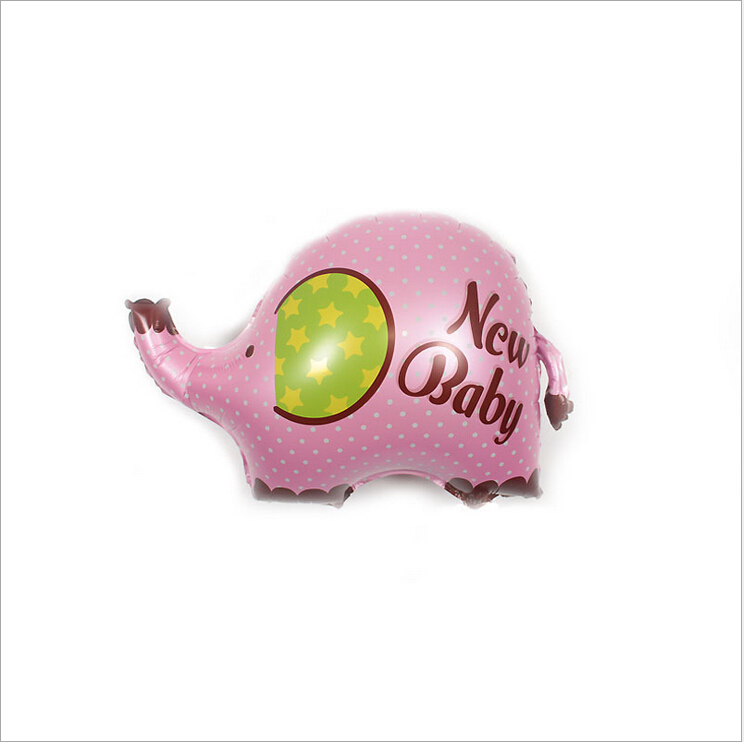 Helium Balloons Baby Shower: Cute Elephant Baby Boy Baby Girl Foil Balloons Baby Shower