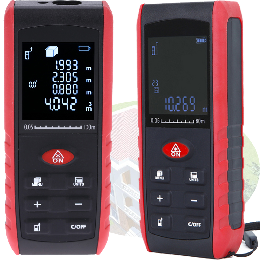 Laser Rangefinder Range Finder laser Distance Meter 40M 60M 80M 100M electronic ruler Digital measure tape laser roulette tools outest 40m 60m 100m laser rangefinder digital laser distance meter laser roulette ruler trena tape measure range finder tools