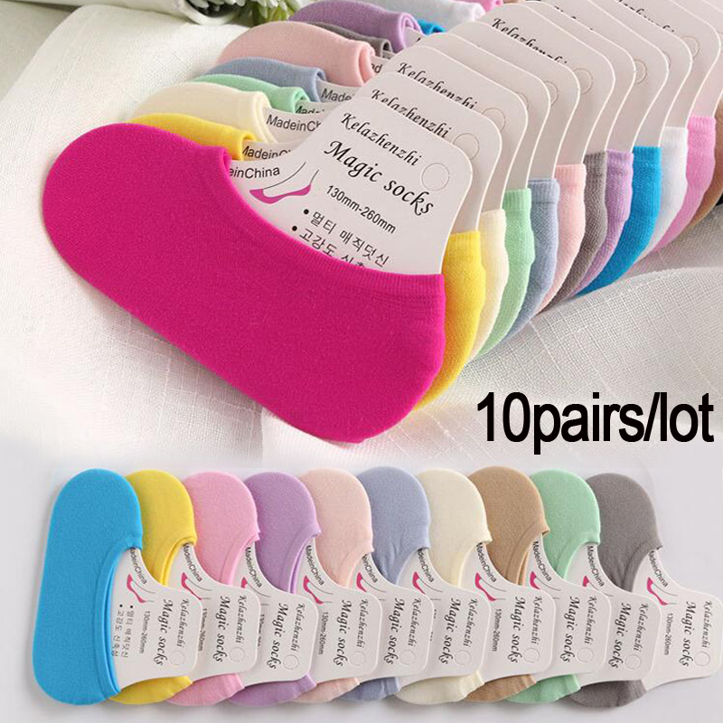 10pairs/lot Children's Invisible Shallow Mouth Short Boat Socks Slip Silicone Candy Color Black Beige Sock For Kids New 2019