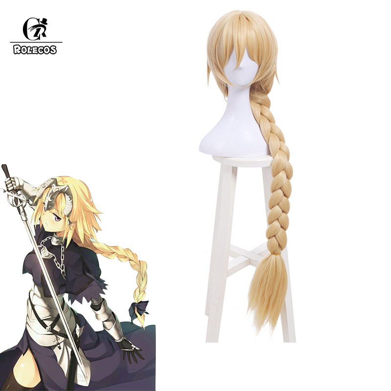 ROLECOS FGO Jeanne d'Arc Cosplay Headwear Fate Grand Order Cosplay  Synthetic Hair 100cm/39 17 inches