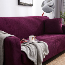 Plush Sofa Cover For Living Room Warm Slipcover Sectional Couch Elastic Armchair Single Double Three Seat