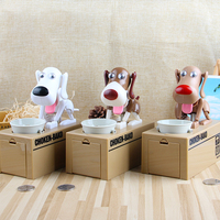 1 Piece Electronic Robot Dog Toys Funny Electric Coin Saving Dog Electronic Pets Educational Toys For