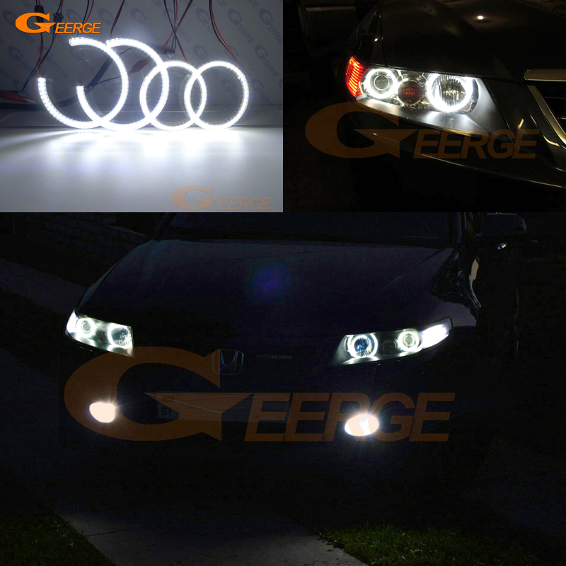 For honda accord CL7 CL9 CM2 2002 2003 2004 2005 2006 2007 2008 Excellent 4 pcs Ultra bright illumination smd led Angel Eyes kit for ford fiesta facelift 2005 2006 2007 2008 excellent 4 pcs smd led angel eyes ultrabright illumination angel eyes kit