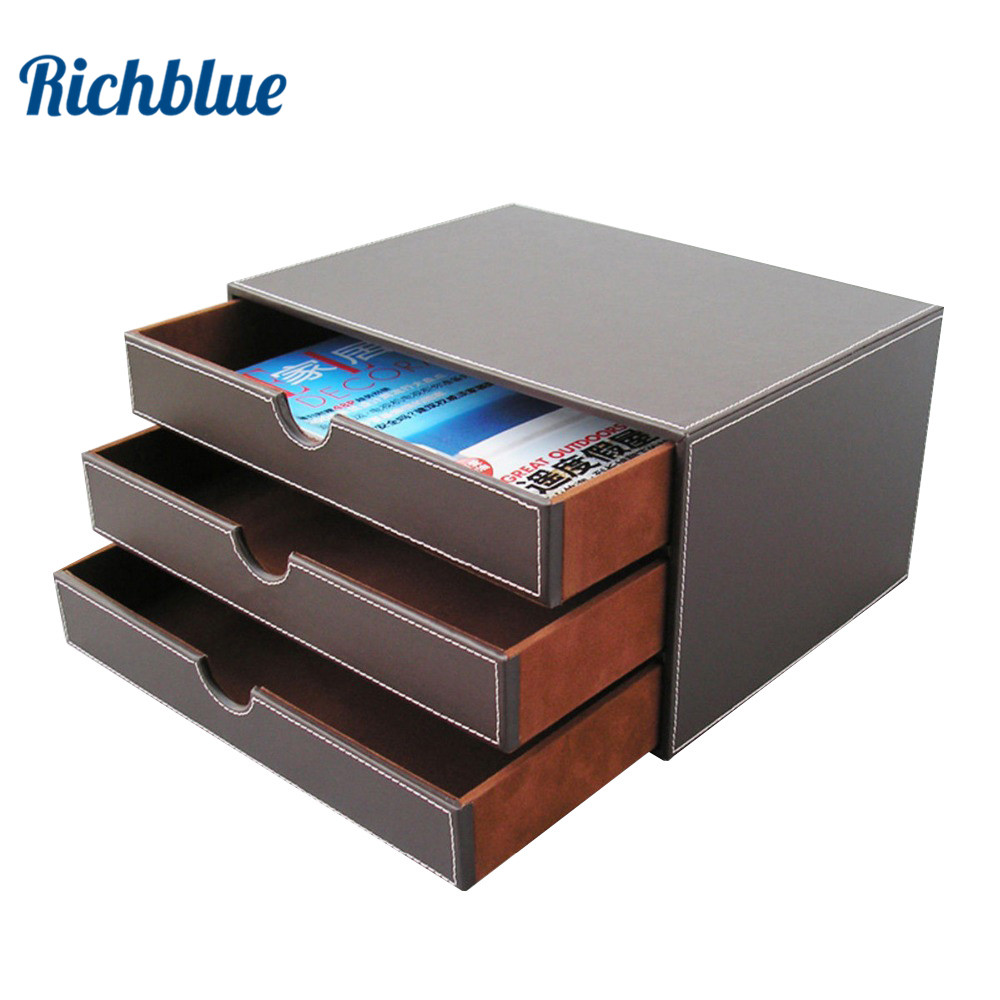3-Layer 3-Drawer File Storage Box Organizer Container Bin Filing Cabinet Storage Drawer