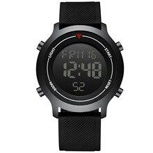 Мужские часы с модным повседневным светодиодный цифровой Спорт на открытом воздухе Часы мужские многофункциональная силиконовая 3Bar водонепроницаемые студенческие наручные часы