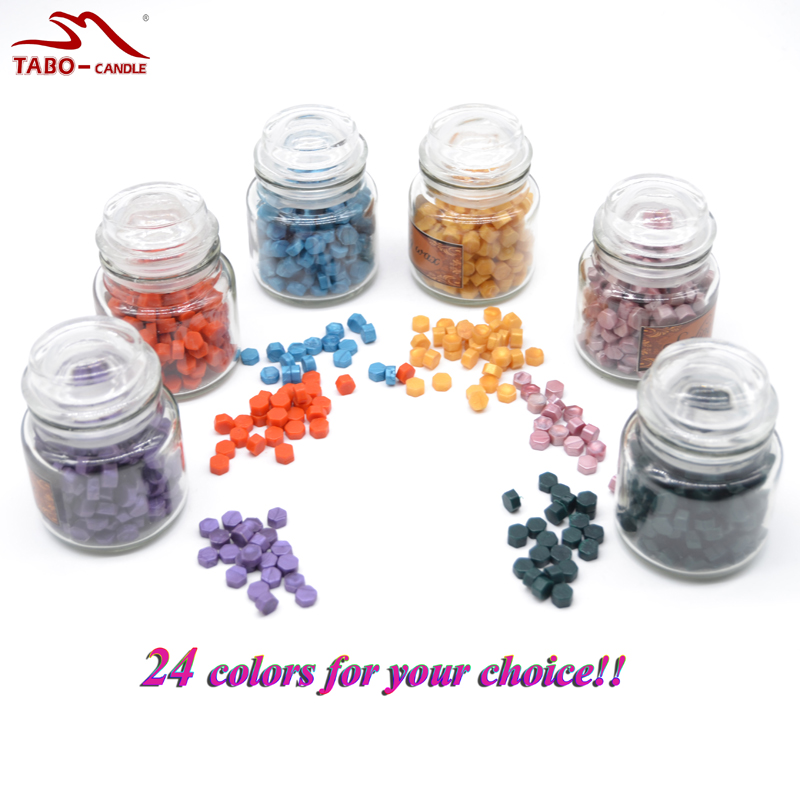 24 colors Glass Bottled Sealing Wax granule for DIY Sealing Wax of Invitation Letter Hexagon Sealing Wax Granule russian new laptop keyboard with touchpad palmrest for samsung np 700z7 700z7c fr gr ru nw hb layout