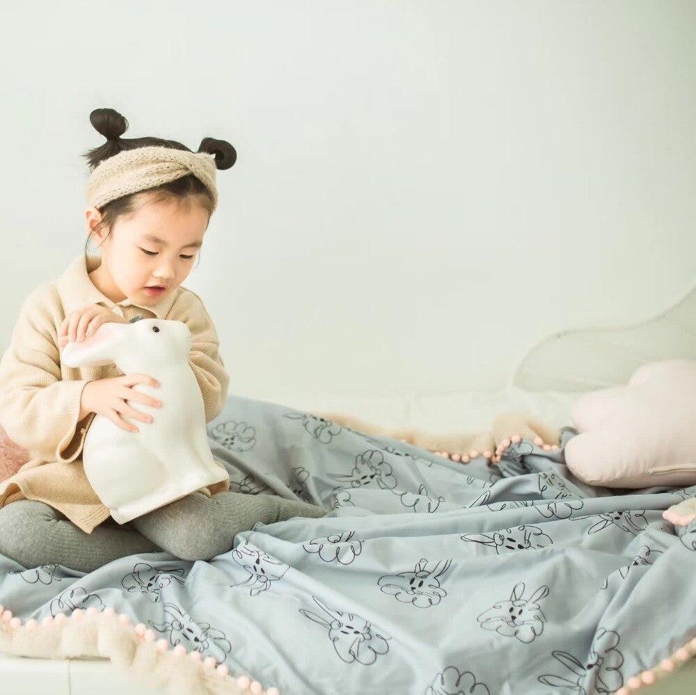 Haute qualité cadeau doux flanelle couverture nouveau-né bambin infantile Swaddle chaîne pépinière literie poussette bébé couverture doux réception