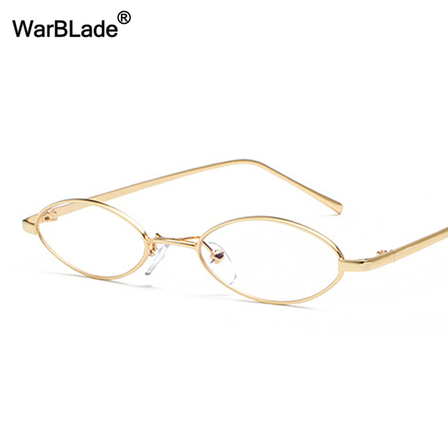 75e638fa0c Small Oval Glasses Frame For Men Retro 2018 Gold Metal Frame Clear Lens Optical  Eyeglasses Frame Women Unisex WarBLade