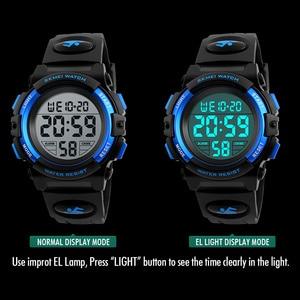 Image 5 - SKMEI relógio de pulso digital de marca, relógio LED de pulso digital multifuncional à prova dágua para passear, esporte, relógios para criança, meninos e meninas