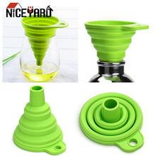 Cooking-Tools Gadgets Hopper Silicone Mini Funnel NICEYARD Collapsible-Style High-Quality