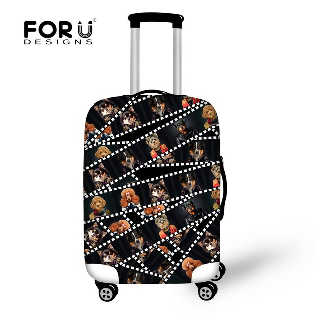 Suitcase Trolley Case Dog Animal Printed Luggage Protective Covers Stretch Apply to 18-30 Inch Cases Bags Travel Luggage Cover