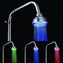 Водонепроницаемый датчик температуры обнаруживаемый 3 цвета светодиодный душевая головка ванная комната LD8010-A1