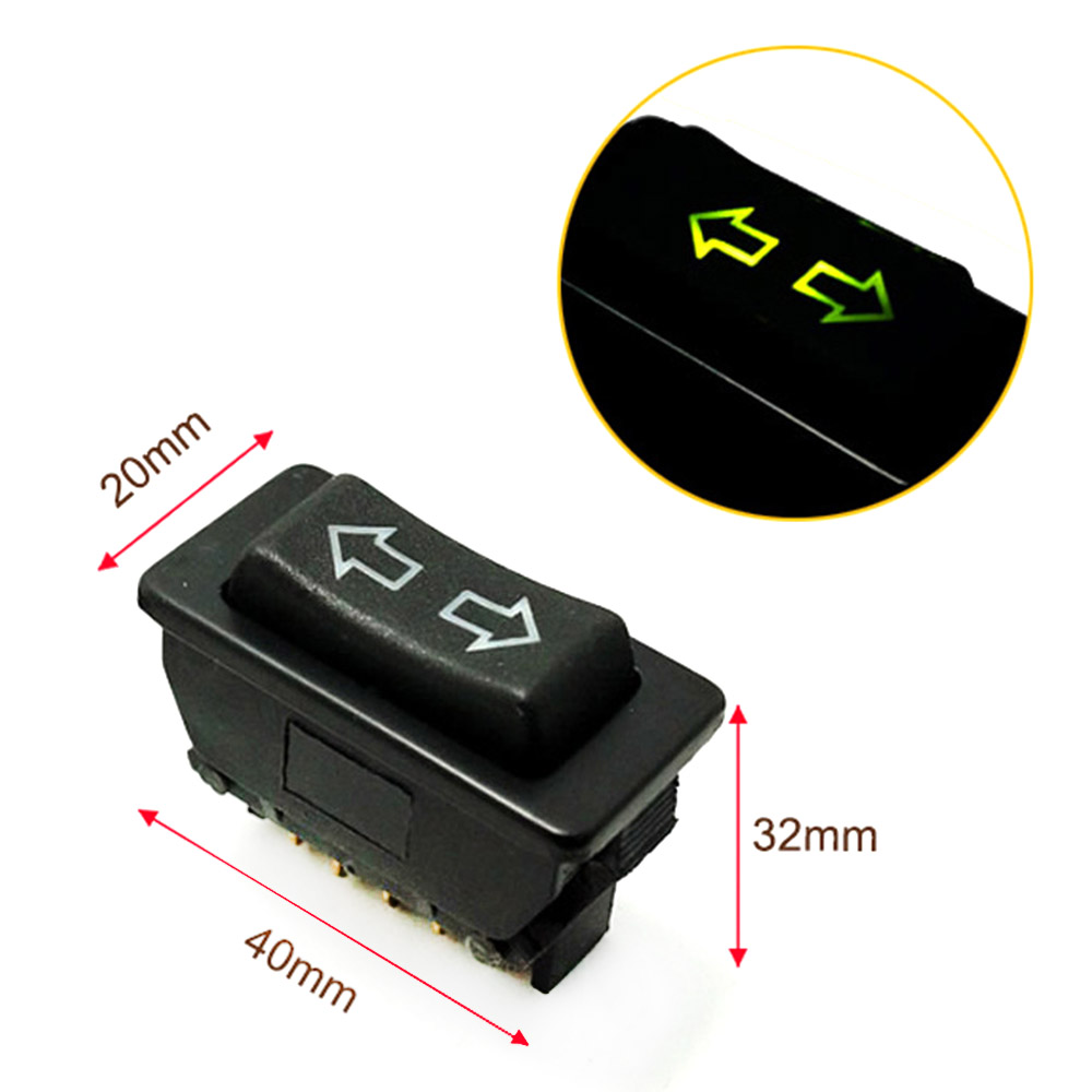 1pcs Window Switch Lift Control Switch Button Arrow icon with lights Car Electric Vehicle Universal Modified Glass Lifter Power image