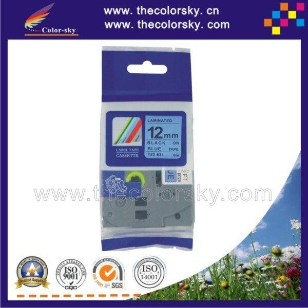ᗚ(Tze-531) 2 шт. черный на Blue Label лента картридж для ...