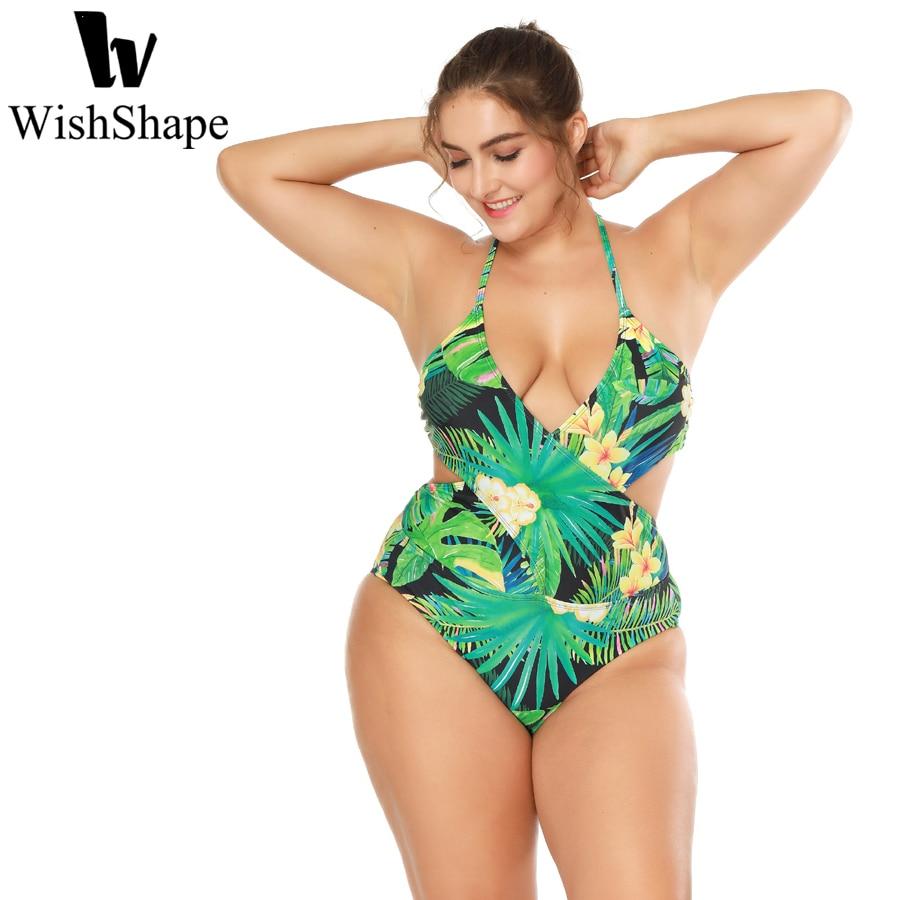 Sexy Brazilian One Piece Swimsuit High Cut Women Swimwear Push Up Monokini Foral Piece Bodysuit Beach Wear Plus Size XXL 3XL