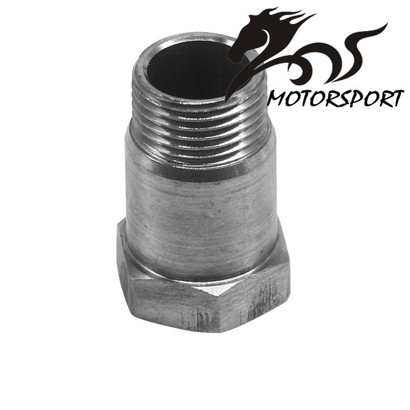 O2 Stainless Steel 304 Oxygen Sensor Bung Adapter Extension Extender M18 x1.5