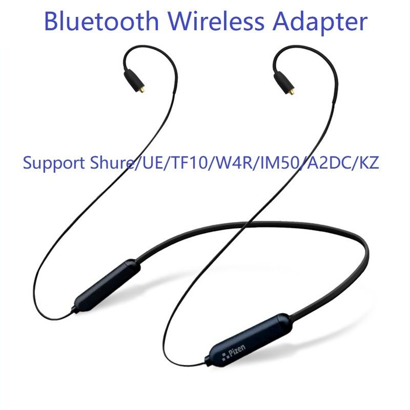PIZEN Bluetooth Sans Fil adaptateur 0.78 0.75mm 2PIN MMCX Câble avec microphone Pour Shure/Westone/JVC/FiiO UE TF10 W4R TRN tfz