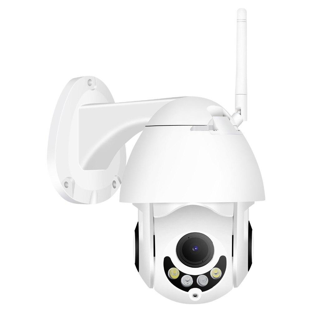 Hamrolte Wifi caméra vitesse dôme caméra 1080 P 5X Zoom Auto mise au point double lumière IP66 étanche extérieure Mini caméra PTZ CamHi accès