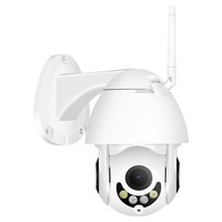 Hamrolte Wifi Camera Speed Dome Camera 1080P 5X Zoom Auto Focus Dual Light IP66 Waterproof Outdoor Mini PTZ Camera CamHi Access