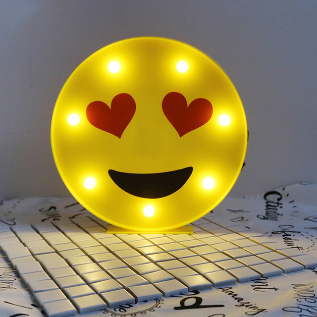 Creative Anthomaniac Face Led Night Light Children S Lamp Desk Emoji Operated Birthday
